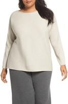 Eileen Fisher Plus Size Women's Ribbed Wool Sweater