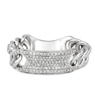 Diamond (1/4 ct. t.w.) Id Chain Ring in 14K White Gold