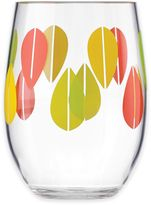 Dansk The Burbs Acrylic Stemless Wine Glass in Clear/Multi