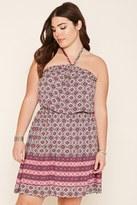 Forever 21 FOREVER 21+ Plus Size Ornate Halter Dress