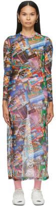 Balenciaga Multicolor Postcard Dress