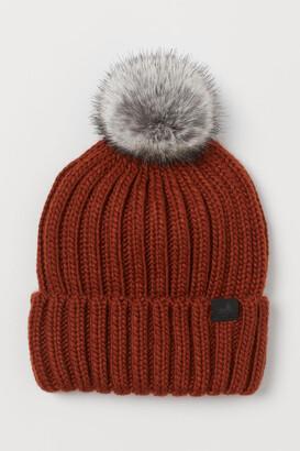 H&M Ribbed Hat - Orange