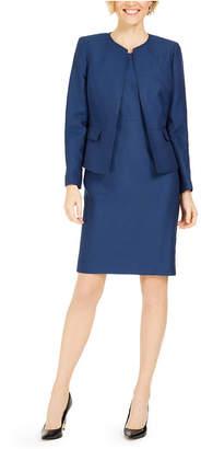 Le Suit Jacquard Sheath Dress Suit