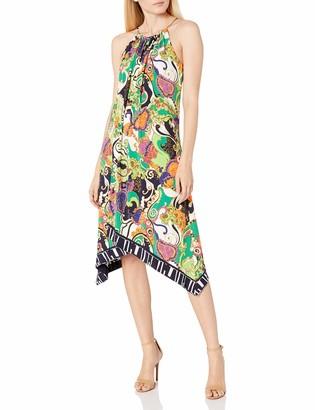 Trina Turk Women's Michalin Turkish Delight Matte Jersey Midi Dress