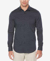 Perry Ellis Men's Cotton Stretch Geometric Print Shirt