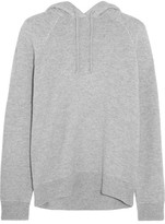 Alexander Wang Wool And Cashmere-blend Hooded Top - Gray
