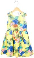 MSGM Girls' Floral Print A-Line Dress w/ Tags