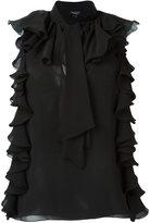 Giambattista Valli ruffled sleeveless blouse - women - Silk - 40
