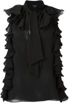 Giambattista Valli ruffled sleeveless blouse