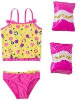 Jump N Splash Toddler Girls' Little Ladybug TwoPiece Swimsuit w/ Free Floaties (2T-4T) - 8143023