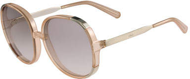 Chloé Myrte Capped Square Sunglasses, Neutral