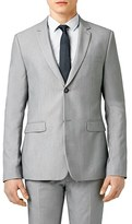 Topman Men's Skinny Fit Textured Grey Suit Jacket