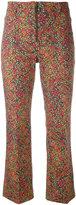 Philosophy Di Lorenzo Serafini - floral print cropped trousers - women - Cotton/other fibers - 40