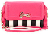 Betsey Johnson Flouncin' Around Striped Wallet on A String