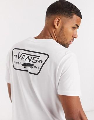 Vans Full Patch back print t-shirt in white