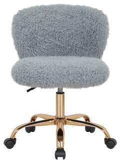 Mercer41 Itzel Armless Task Chair Upholstery Color: Gray