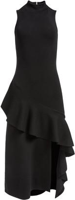 Alice + Olivia Angelia Ruffle Midi Dress