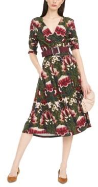 Max Mara Oxiria Printed Wrap Dress