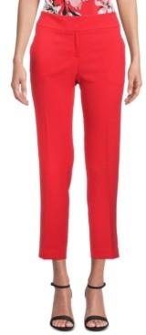 Kasper Petite Stretch Crepe Slim-Leg Pants