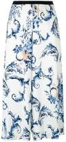 Antonio Marras floral print cropped trousers