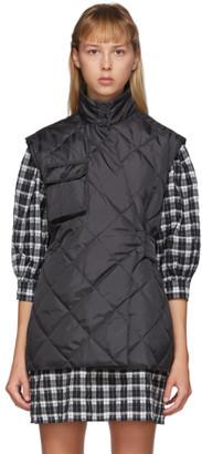 Ganni Black Ripstop Quilt Vest