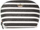 Kate Spade Glitter Stripe Small Annabella Cosmetic Case