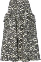 Carven Jacquard Midi Skirt
