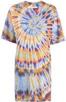 Raquel Allegra tie dye print T-shirt dress