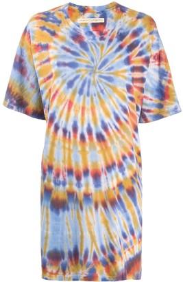 Raquel Allegra tie dye print T-shirt dress