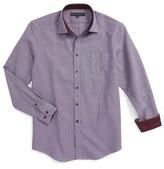 Report Collection Boy's Textured Dress Shirt