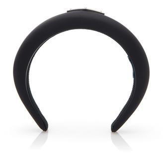 Prada Logo-Appliqued Shell Headband