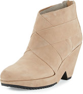 Eileen Fisher Dream Leather Wedge Bootie, Earth
