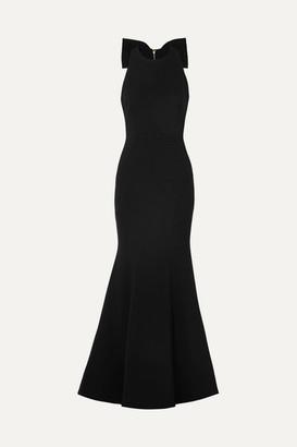Rebecca Vallance Love Bow Halterneck Crepe Gown - Black