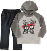 Kids Headquarters 2-Pc. Off-Road Hooded Shirt & Pants Set, Toddler & Little Boys (2T-7)