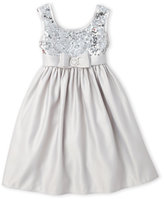 princess faith (Toddler Girls) Silver Sequin Embellished Dress
