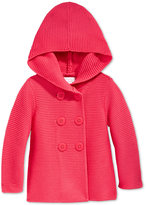 First Impressions Baby Girls' Double-Breasted Hooded Sweater, Only at Macy's