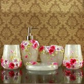YanCui Manufacturer YanCui@ Home Decor,Bath Ideas,Home Gift European-style luxury bath five-piece creative set resin
