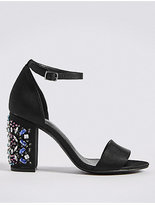 M&S Collection Jewel Heel Two Part Sandals
