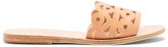 Ancient Greek Sandals Maistros Laser-cut Leather Slides - Tan