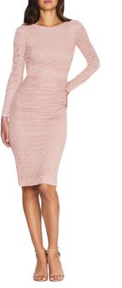 Dress the Population Mona Lace Body-Con Long Sleeve Dress