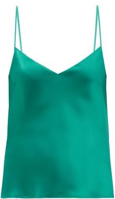 Galvan Satin Camisole - Emerald