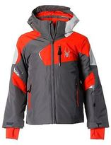 Spyder Wheeler Jacket Junior Boys Snow Winter Sports Full Zip Hooded Top