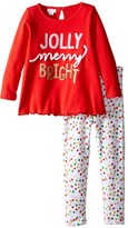 Mud Pie Jolly Tunic & Leggings Set (Toddler)