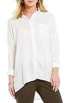 M.S.S.P. Long Roll-Tab Sleeve Button-Down Woven Shirt