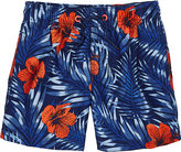 Sundek Hibiscus-Print Swim Trunks