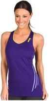 adidas Supernova Tank (Collegiate Purple/Vivid Yellow) - Apparel