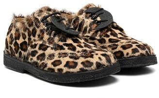 Zecchino D'Oro Kids Leopard-Print Lace-Up Shoes