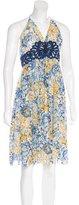 Vivienne Tam Silk Floral Print Dress