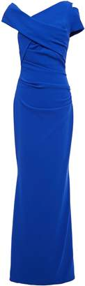 Talbot Runhof Moa Cutout Ruched Crepe Gown