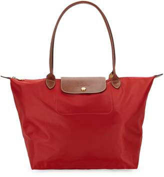 Longchamp Le Pliage Leather-Trim Tote